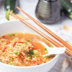Egg Drop Soup with Zucchini and Daikon Noodles {GF, DF} + Giveaway!