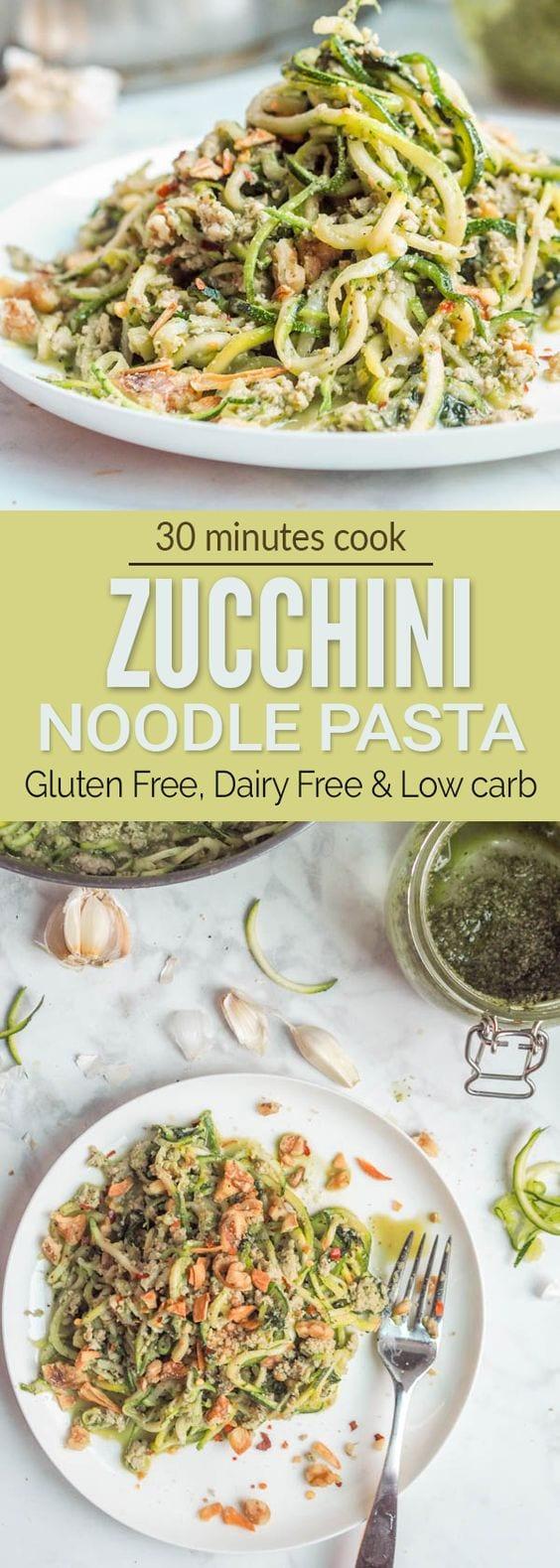 zucchini noodle pasta pin