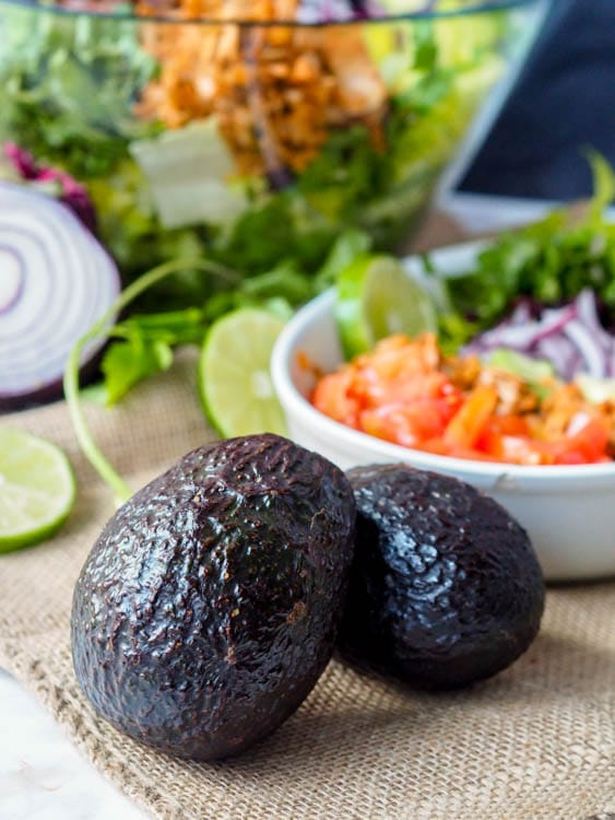 avocados for the avocado dressing