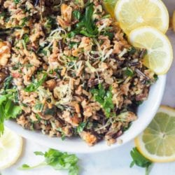 Wild Rice Salad with Walnuts, Lemons and Parsley {GF, Vegan}