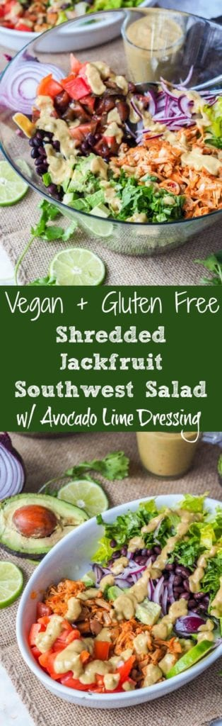 shredded jackfruit salad pin