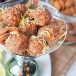 Five ingredient coconut almond date energy balls come together in under 15 minutes and make for a super zesty and refreshing snack (or dessert) that is also healthy, gluten-free, vegan and refined sugar free. | avocadopesto.com