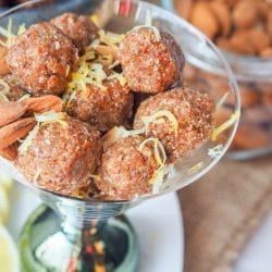 Coconut Almond Date Energy Balls with Lemon {GF, Vegan}