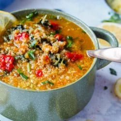 Panera Broth Bowl with Lentils, Quinoa and Veggies {GF, Vegan}