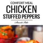 chicken stuffed peppers pin