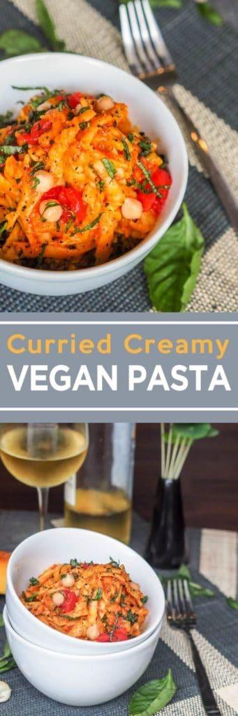 creamy vegan pasta pin