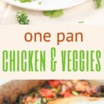 one pan chicken and veggies pin