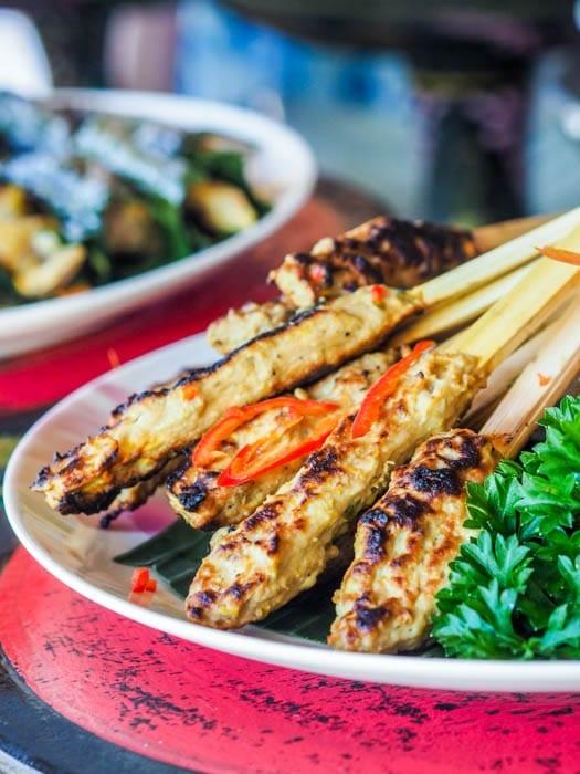 Grilled fish skewers