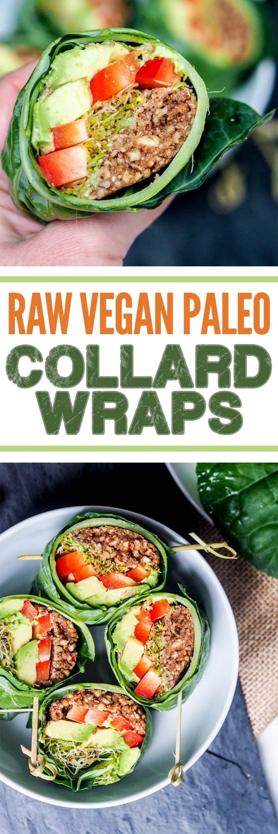 Raw vegan recipes collard wraps gluten free paleo raw vegan recipes are perfect when you want to eat healthy and detox your body from forumfinder Images