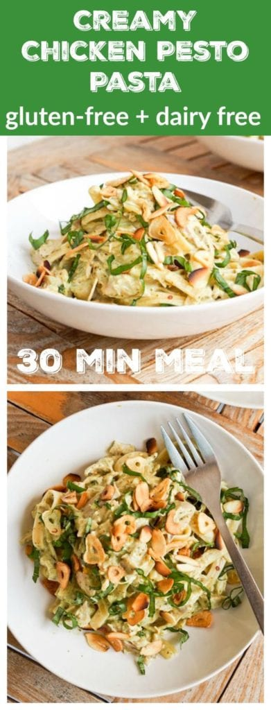 pesto chicken pasta pin