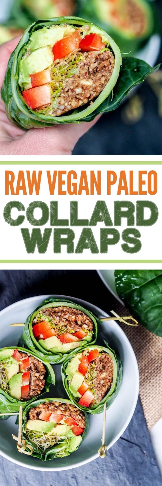 Raw vegan recipes collard wraps gluten free paleo raw vegan recipes are perfect when you want to eat healthy and detox your body from forumfinder Image collections