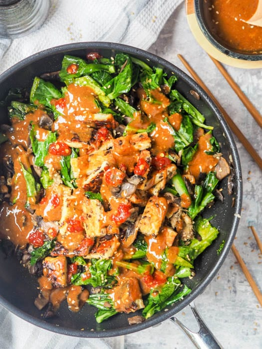 Tempeh Stir Fry with sauce