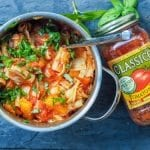 Easy Tomato Pasta Recipe made using products from the Stock Up Sale