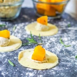 Vegan Ravioli with Pumpkin and Ricotta {GF} + Vegan Dinner Party Menu