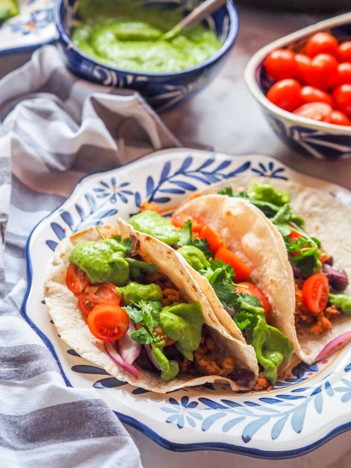 tempeh tacos ready