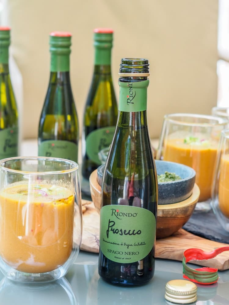 watermelon gazpacho prosecco party