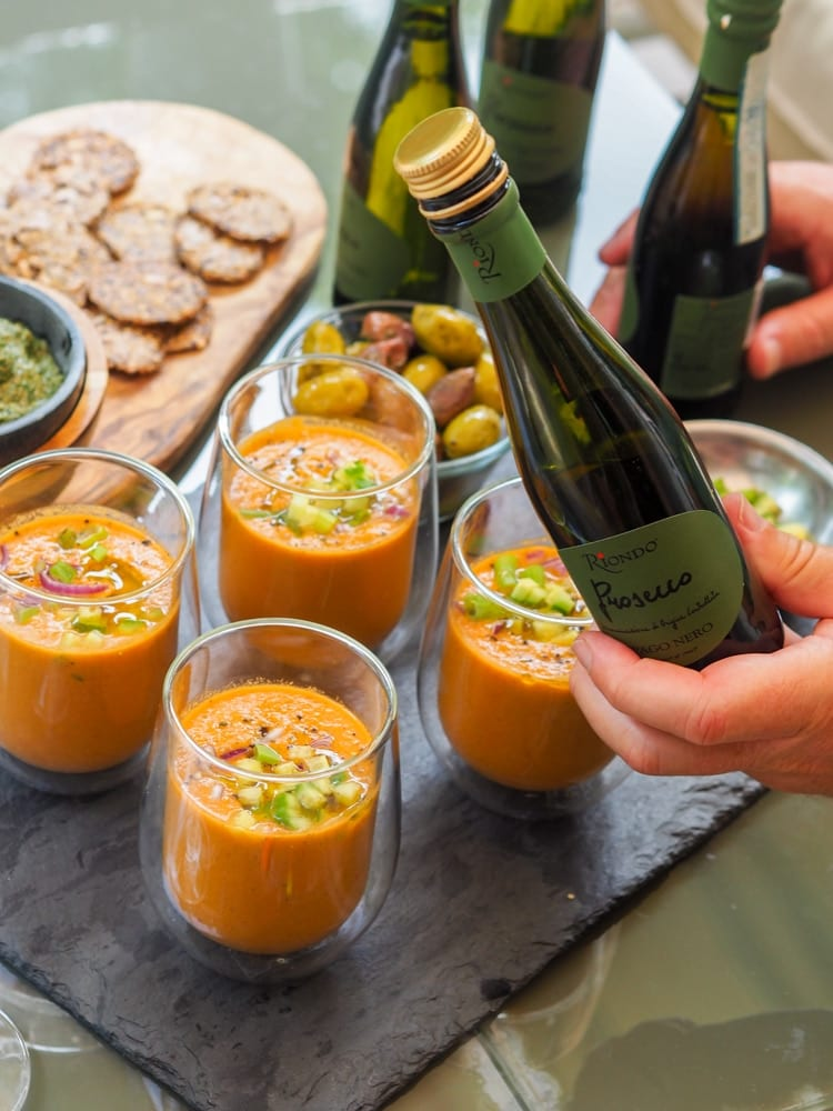 watermelon gazpacho with apps