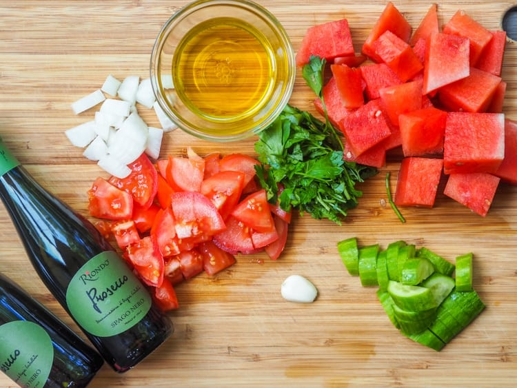 watermelon gazpacho ingredients