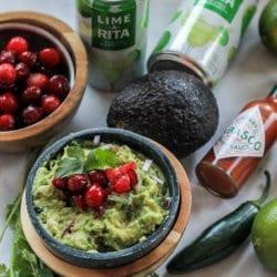 Cranberry Guacamole {Gluten-Free, Vegan}