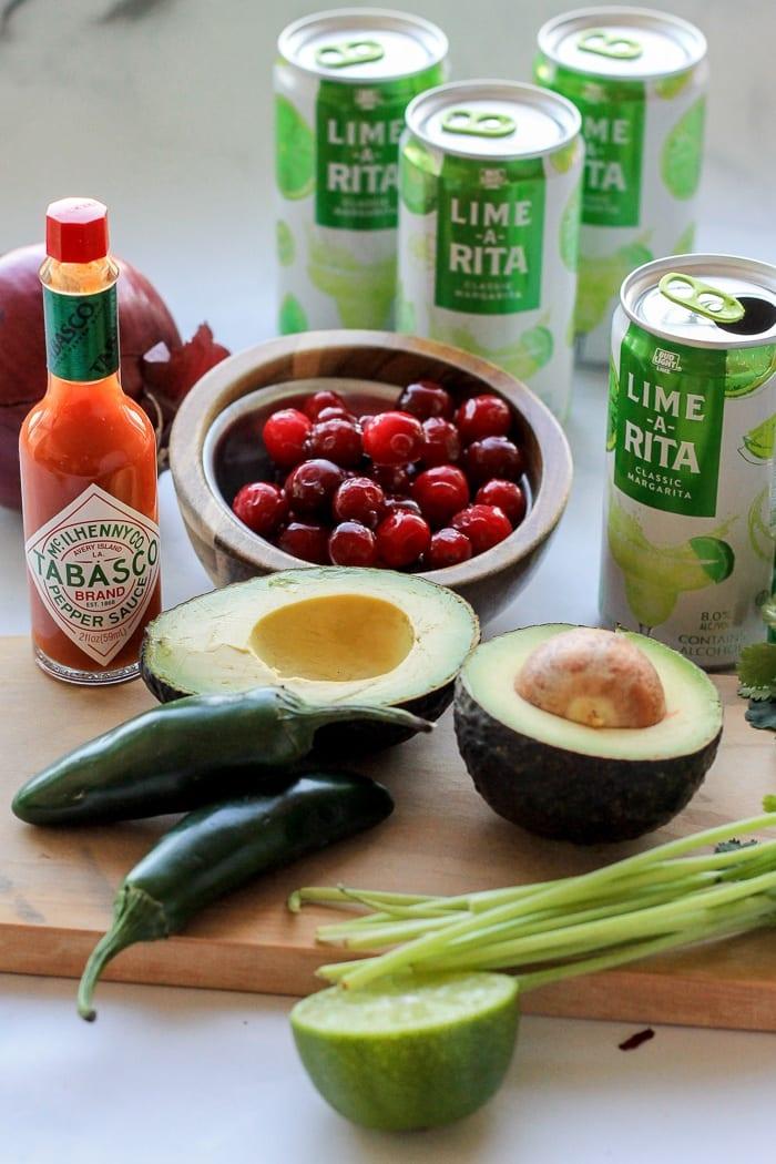 Cranberry Guacamole ingredients