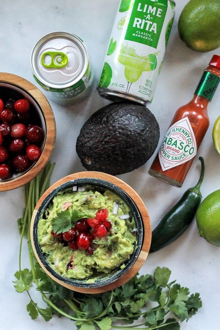 Cranberry Guacamole ready to enjoy