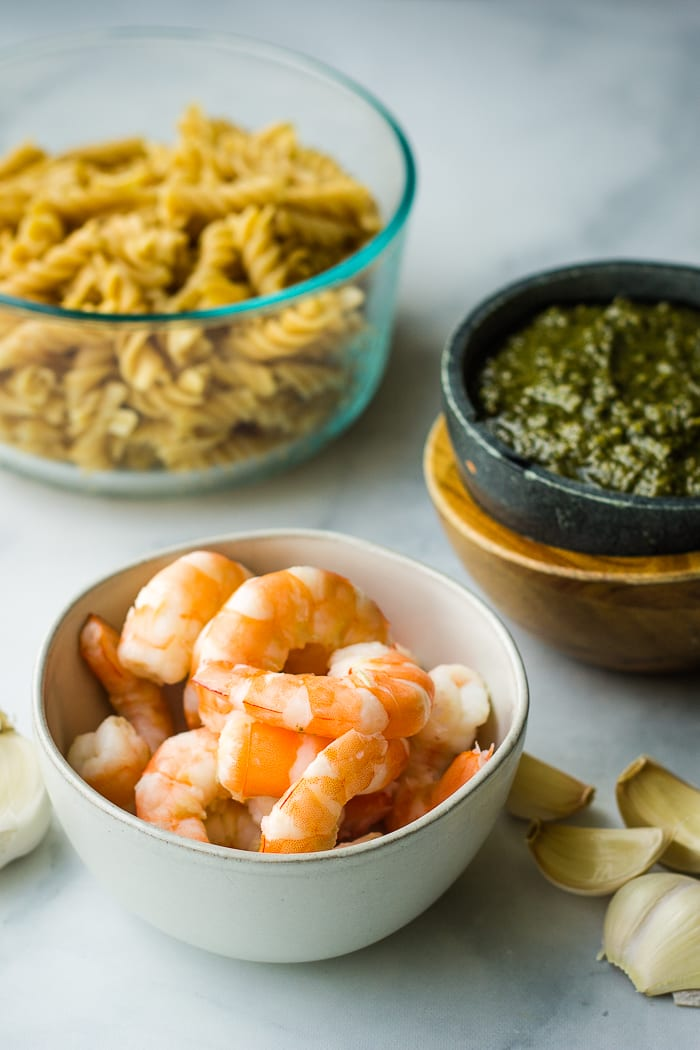 Shrimp Pesto Pasta Ingredients