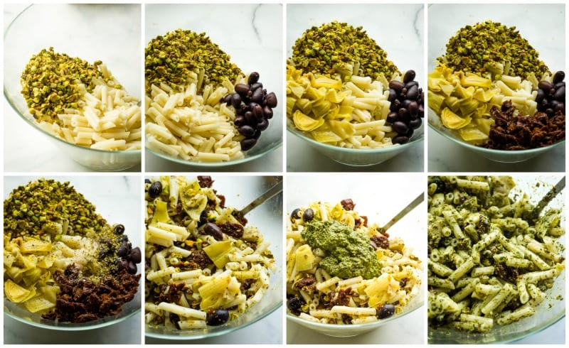 step by step vegan pasta salad