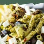 vegan pasta salad pin