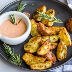 Rosemary Roasted Potatoes with Aioli