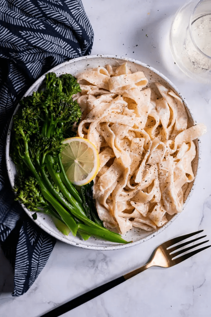 Vegan Lemon Tahini Broccolini Pasta