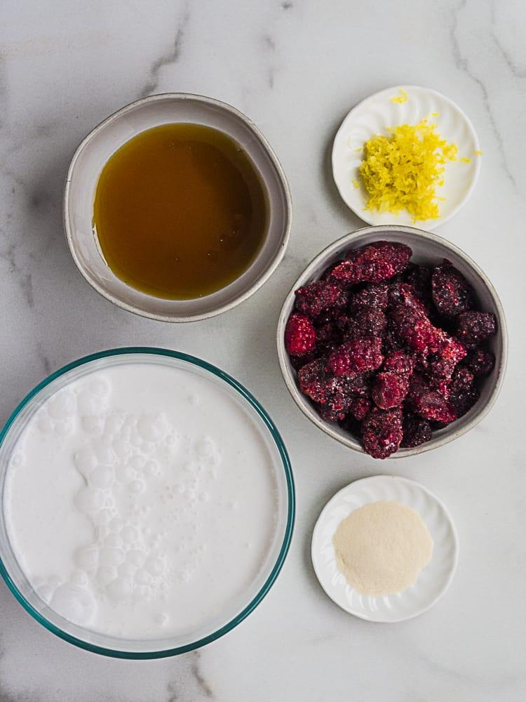 vegan panna cotta ingredients