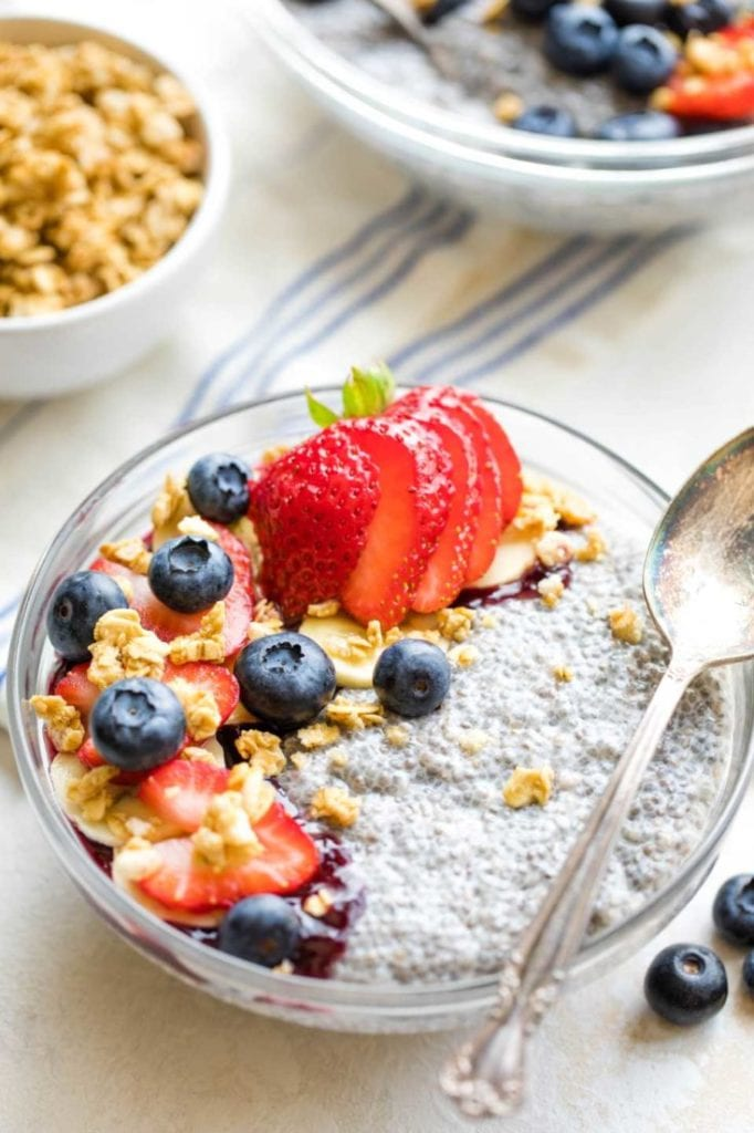 Chia Pudding with Coconut Milk and Berries