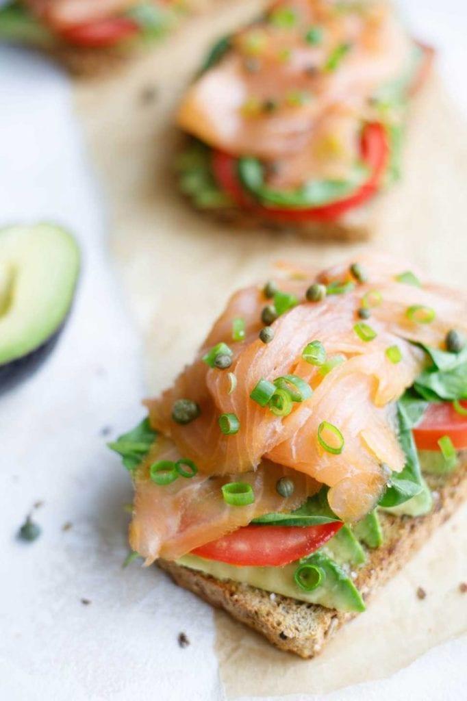 5-Minute Healthy Avocado Toast with Smoked Salmon