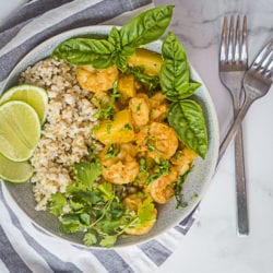 Pineapple Curry with Shrimp