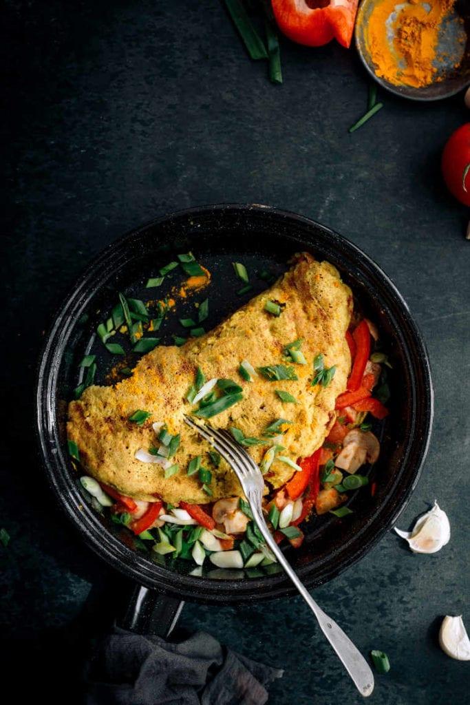65. Best Vegan Chickpea Omelette With Vegetables (Easy & GF)