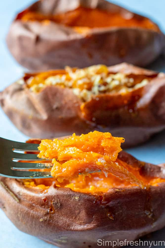 59. Air fryer baked sweet potato