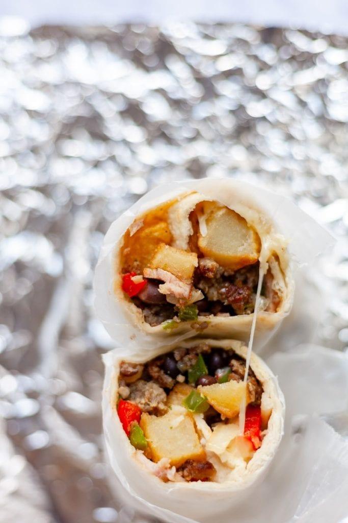 Southwest Egg-Free Breakfast Burrito
