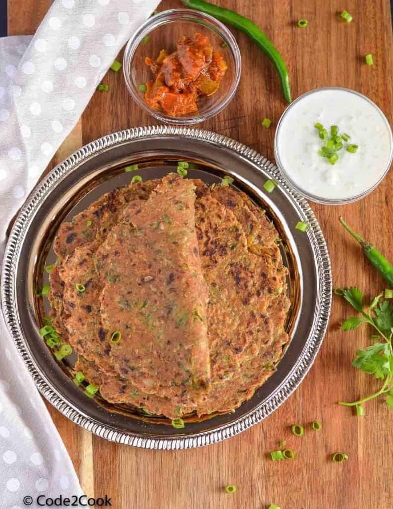 Spring Onion Paratha   Hara Pyaz Ka Paratha