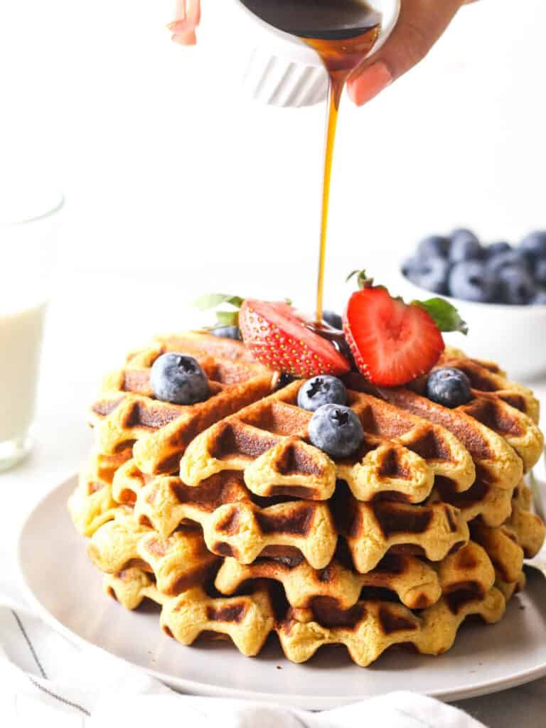 Vegan High Protein Chickpea Waffles ( Gluten-free )