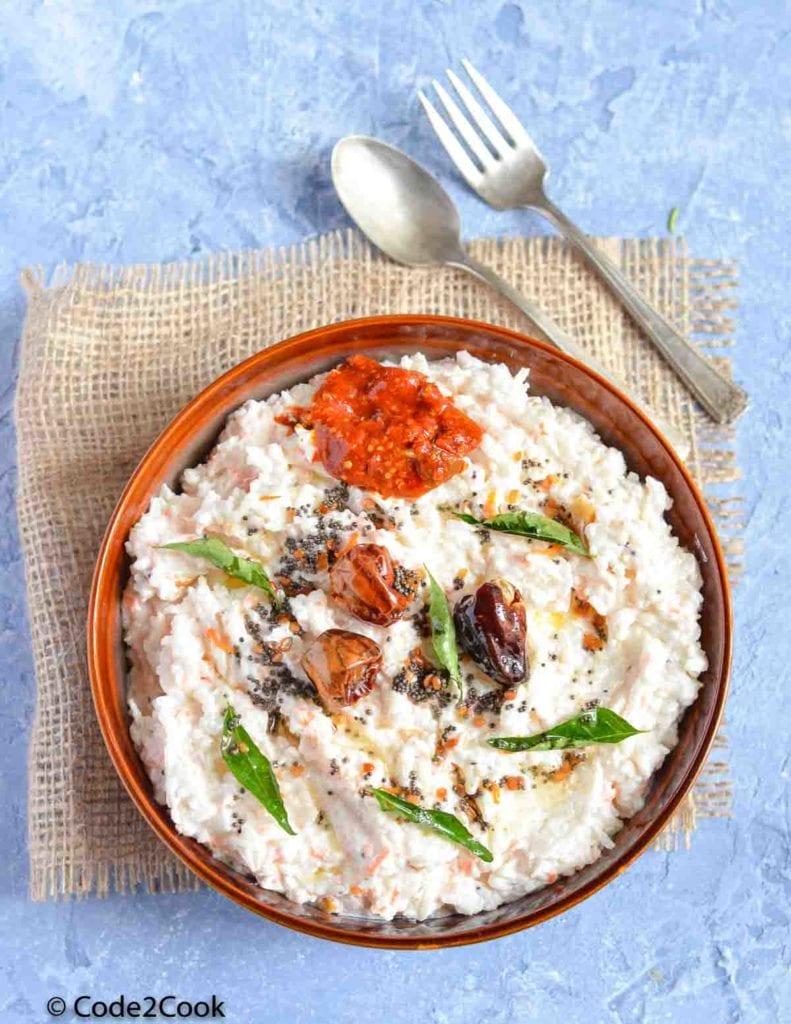 Curd Rice (Thayir Sadam)   How To Make Curd Rice
