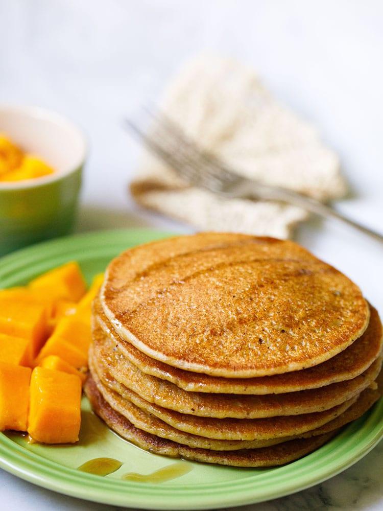 Pumpkin Pancakes (Eggless & Vegan)